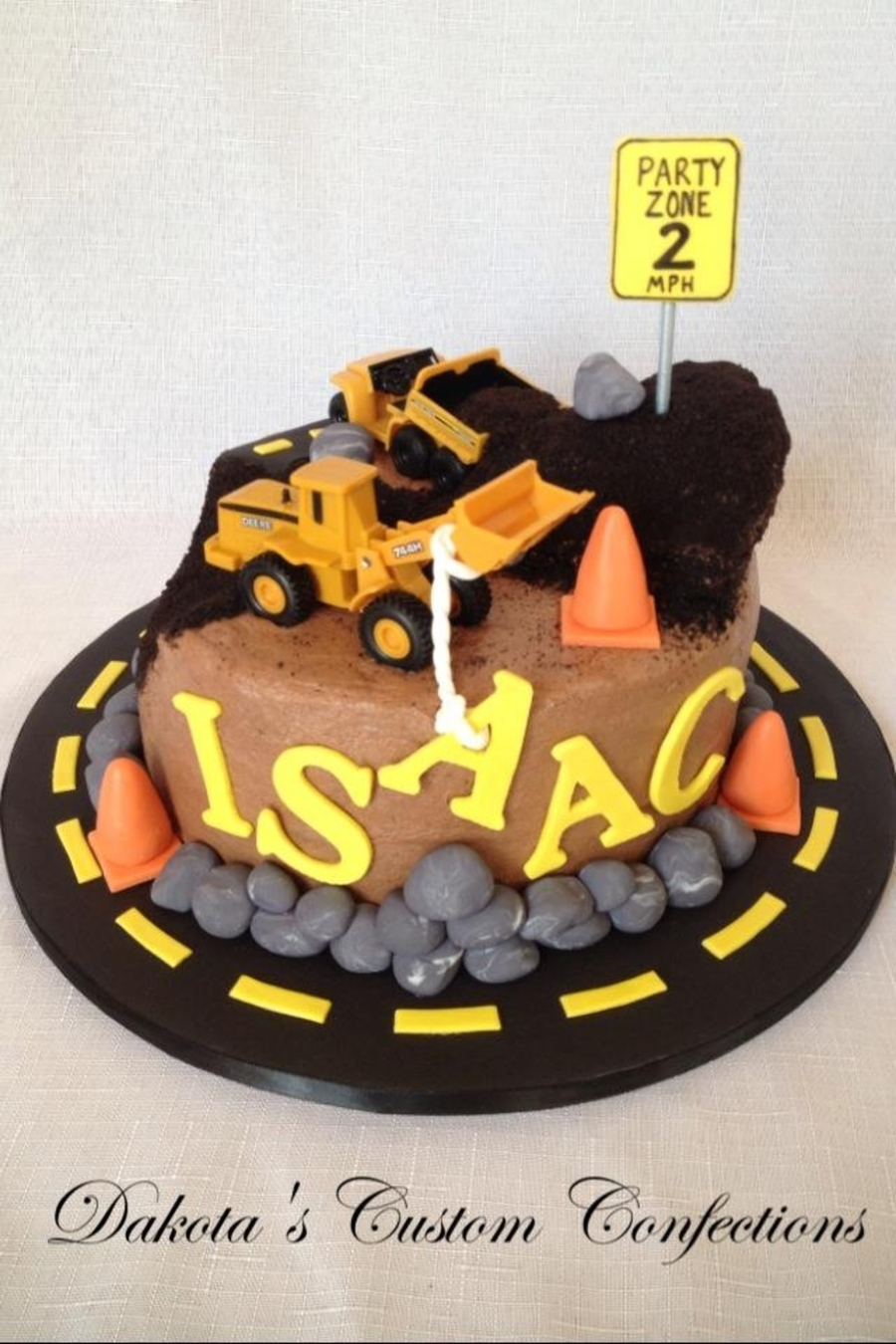 Construction Zone Birthday Cake CakeCentralcom
