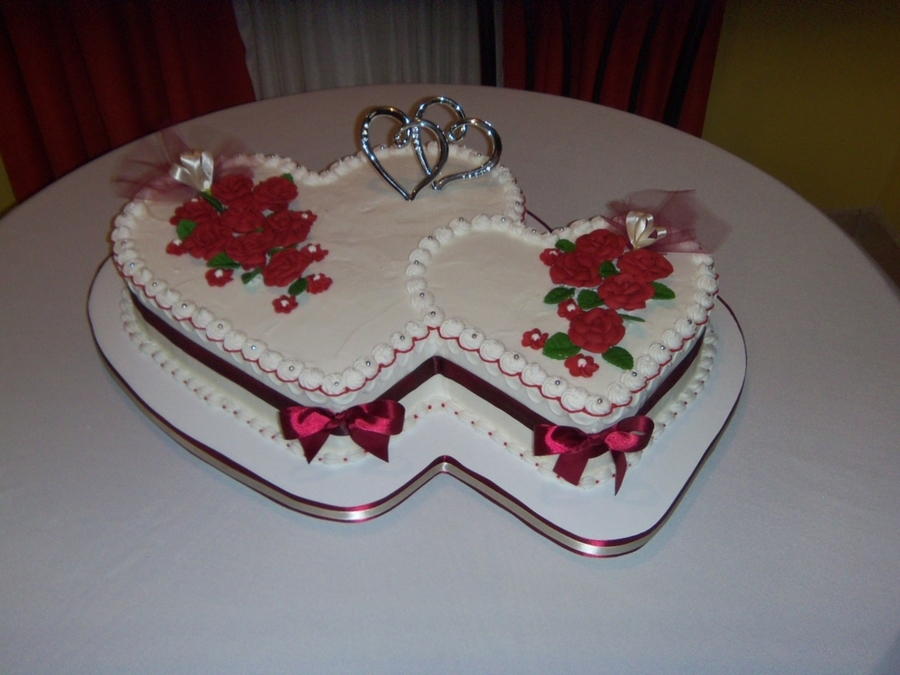 heart shaped wedding cake recipes wedding cake cakecentral 15161