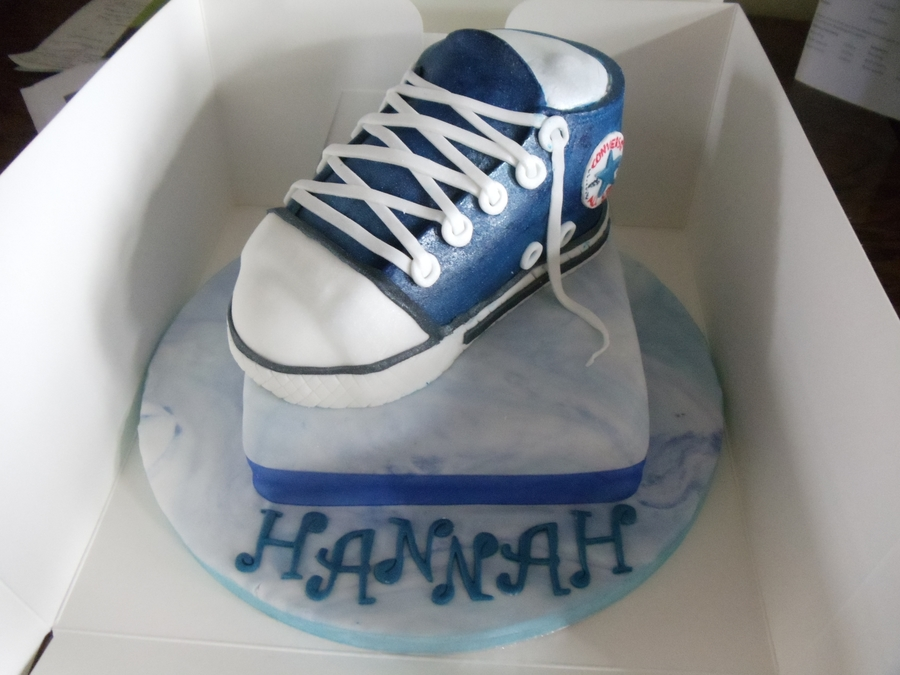 Converse Trainer Cake on Cake Central