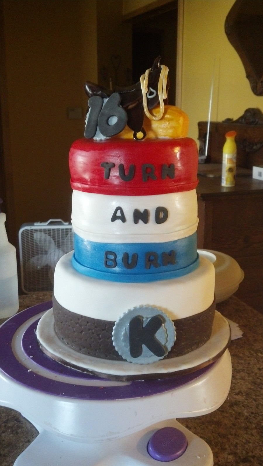 Birthday For A 16 Year Old Barrel Racer Cakecentral Com
