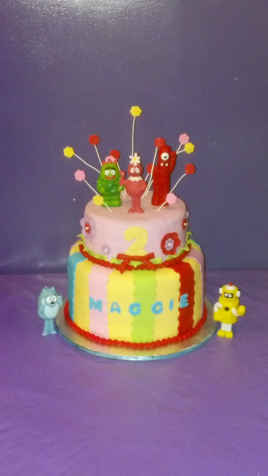 Friends Little Girls 2nd Birthday Cake I Think The Idea Came From