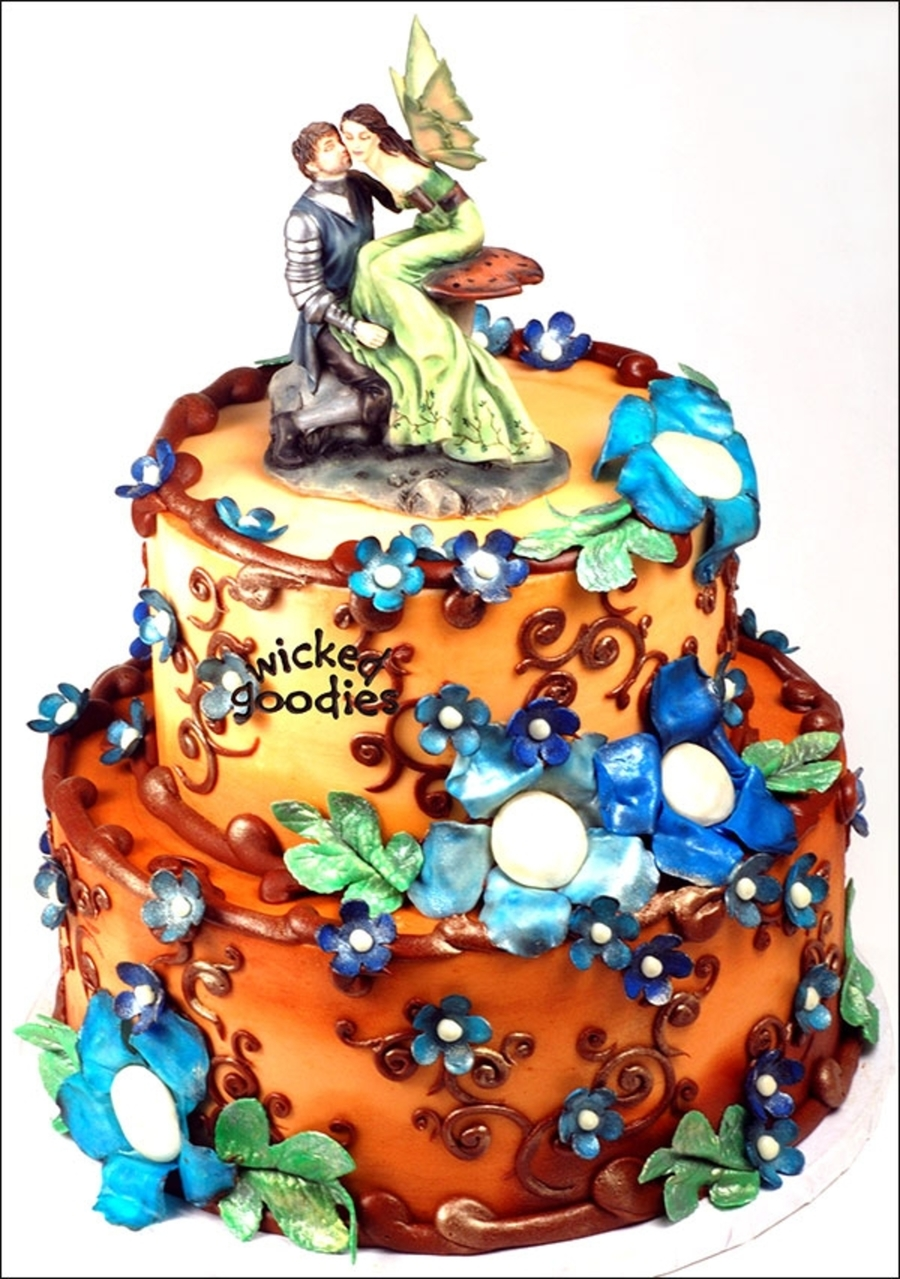 Celtic Faerie Wedding Cake on Cake Central