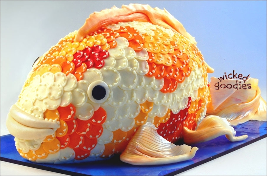 Koi Fish Cake on Cake Central