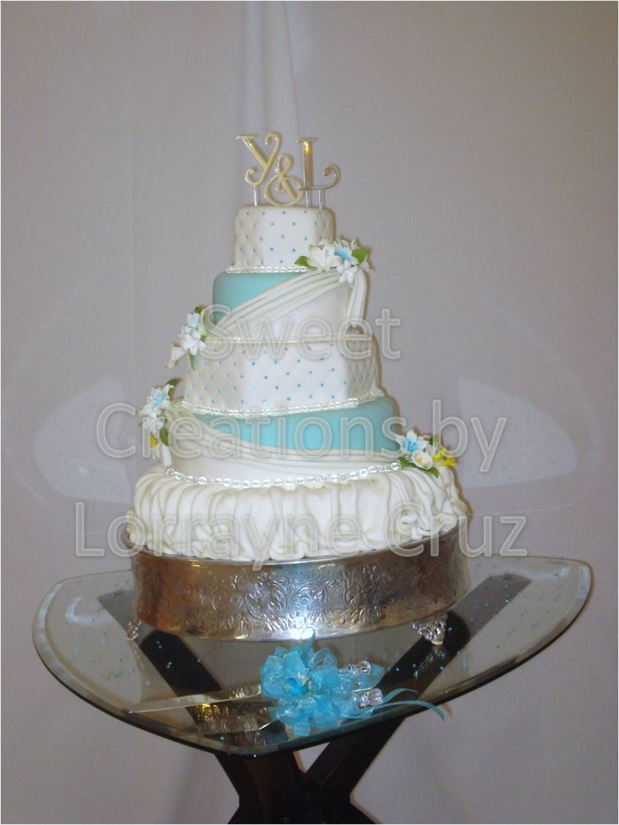 Blue Diamond Wedding Cake on Cake Central