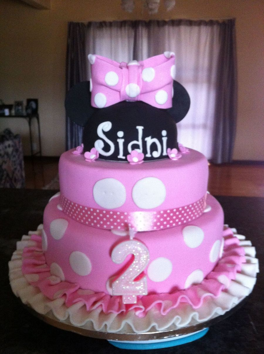 Awe Inspiring Minnie Mouse 2Nd Birthday Cake For My Niece Cakecentral Com Personalised Birthday Cards Veneteletsinfo