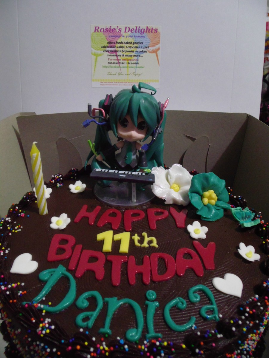 Miku Hatsune Themed Cake Cakecentral