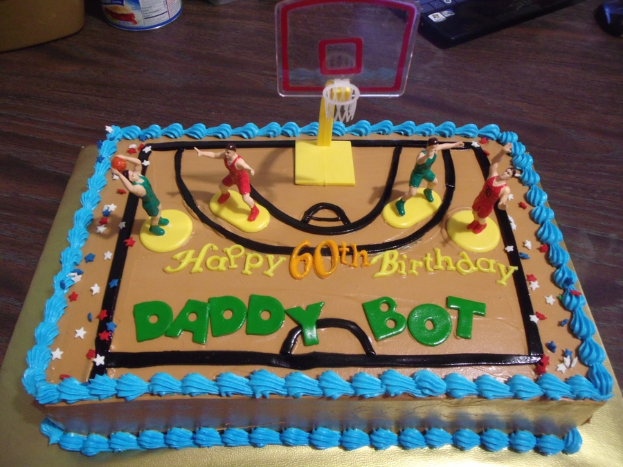 Bball Themed Cake For 60Th Bday on Cake Central