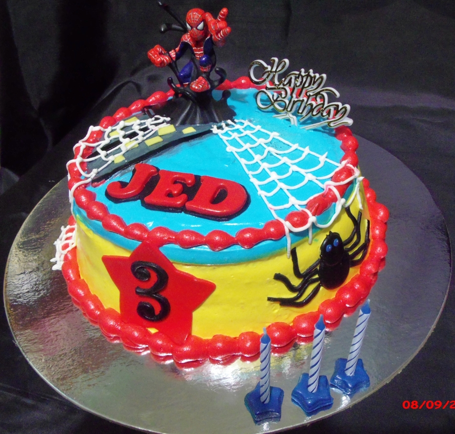 spiderman themed cake. Black Bedroom Furniture Sets. Home Design Ideas