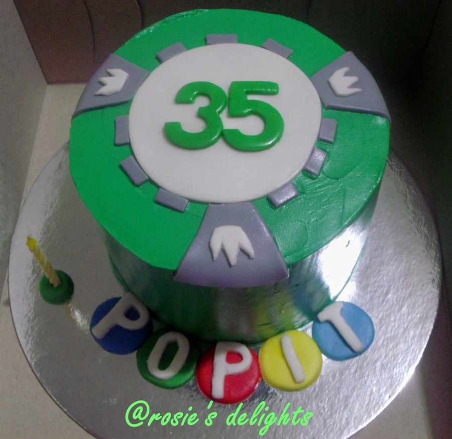Poker Chip Cake on Cake Central