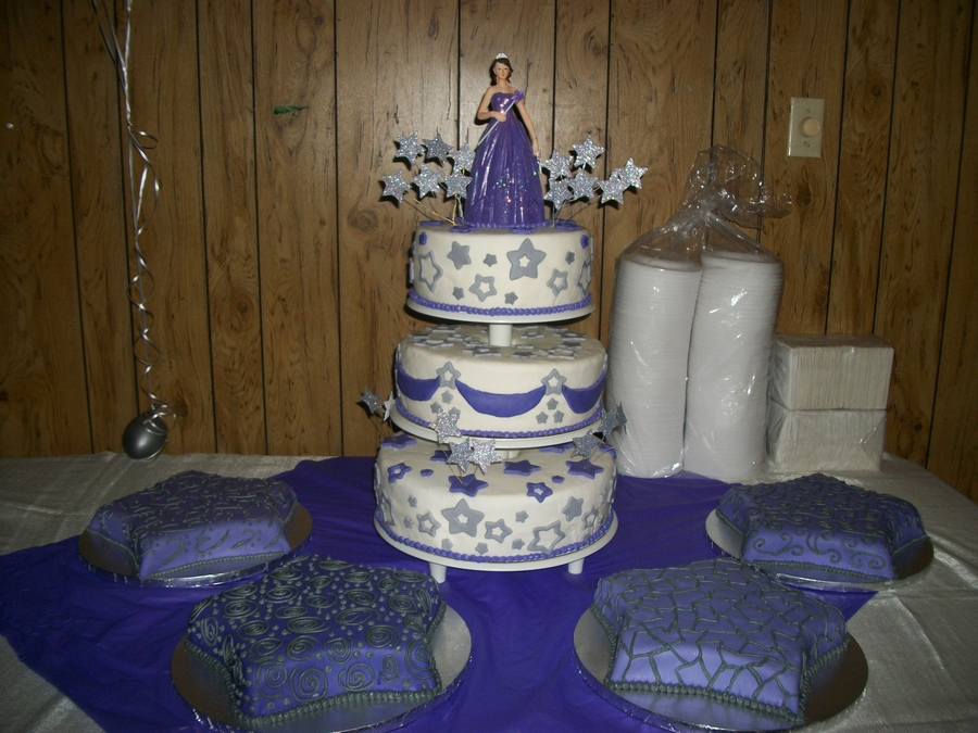 Stars And Purple Quince Cake on Cake Central