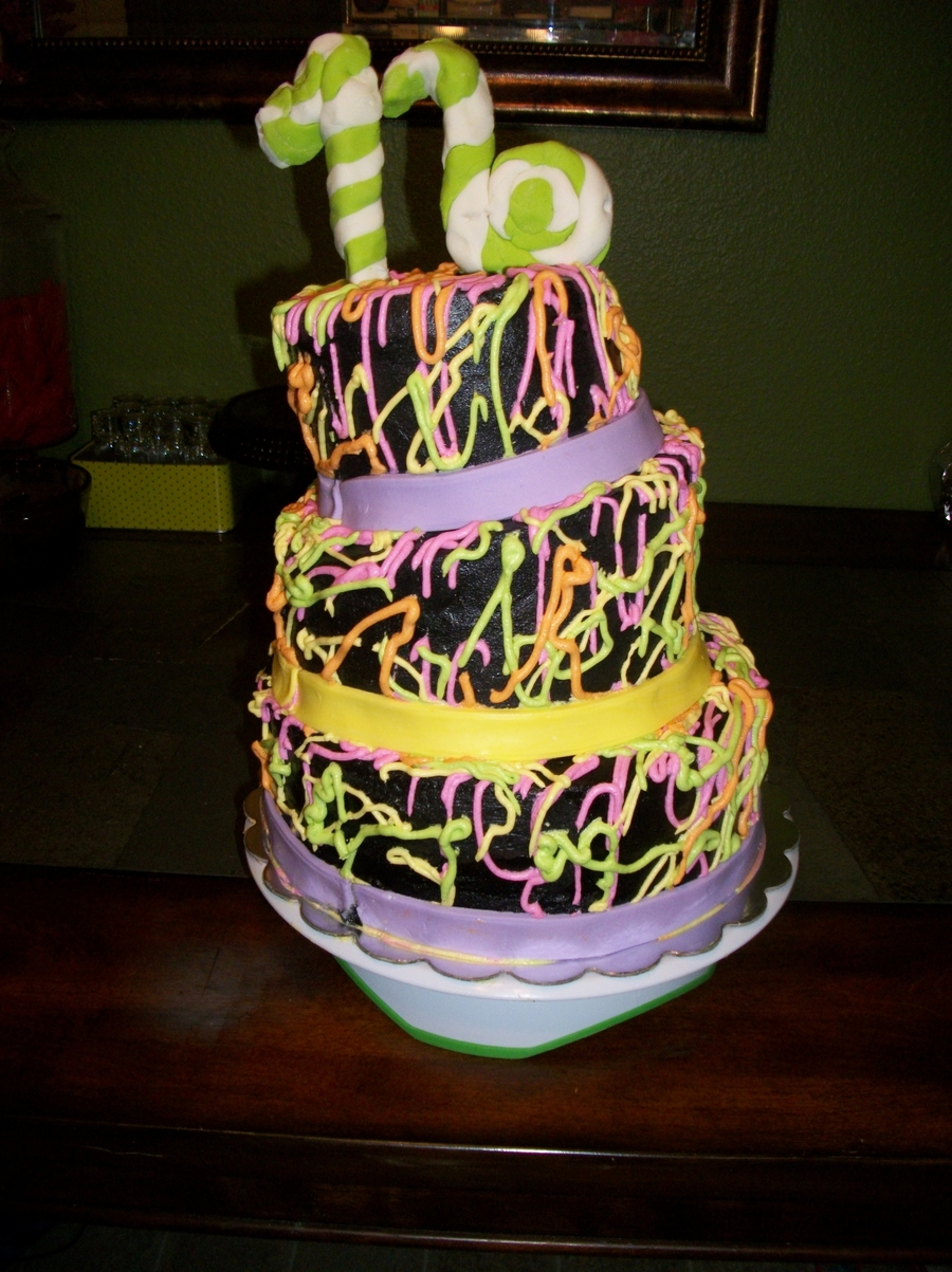 Glow In The Dark Cake on Cake Central