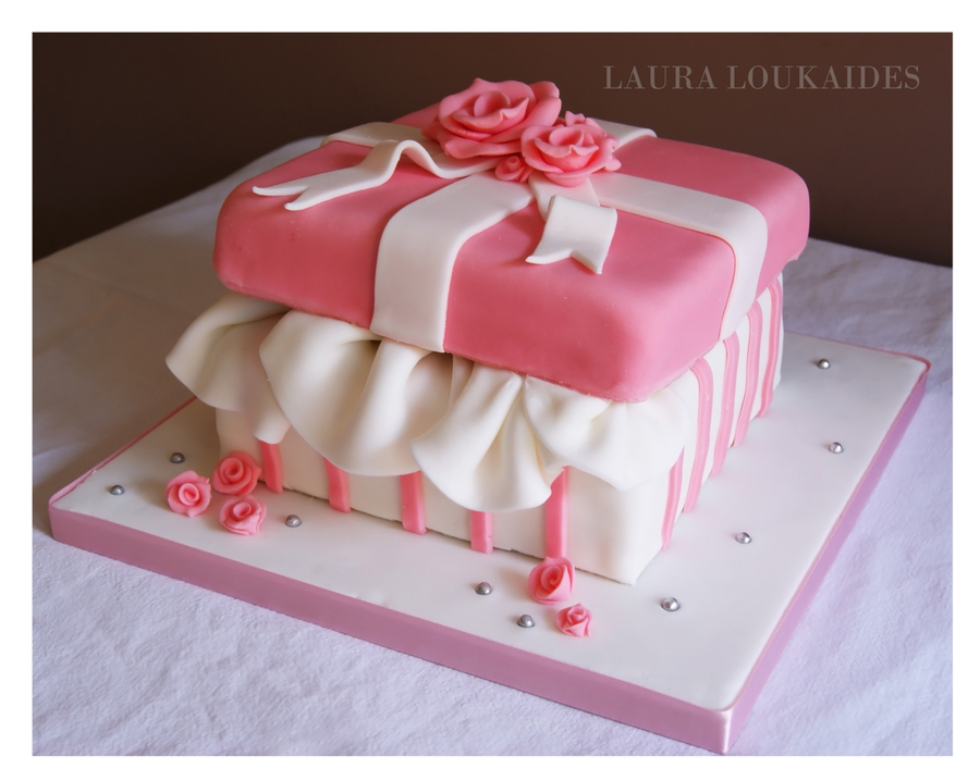 The Gift Box Cake on Cake Central