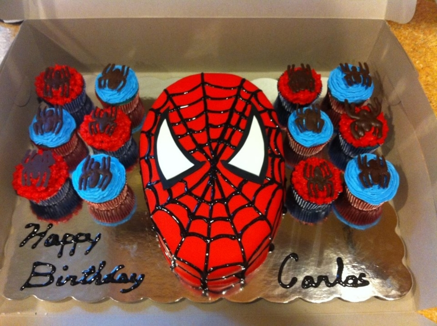 Spider Man Cake And Cupcakes on Cake Central
