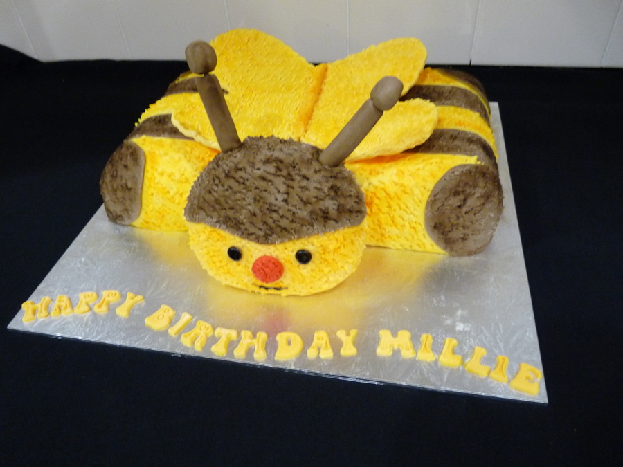 Bumble Bee Pillow Pet Cake on Cake Central