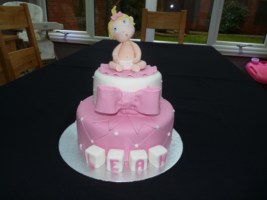 2 Tier First Birthday Cake on Cake Central