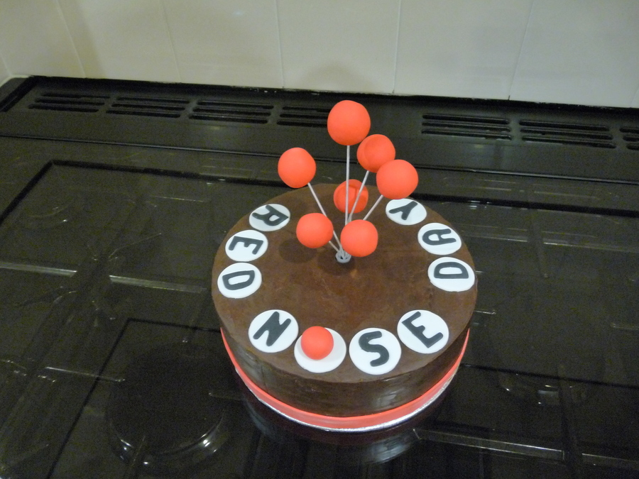 Red Nose Day Cake  on Cake Central