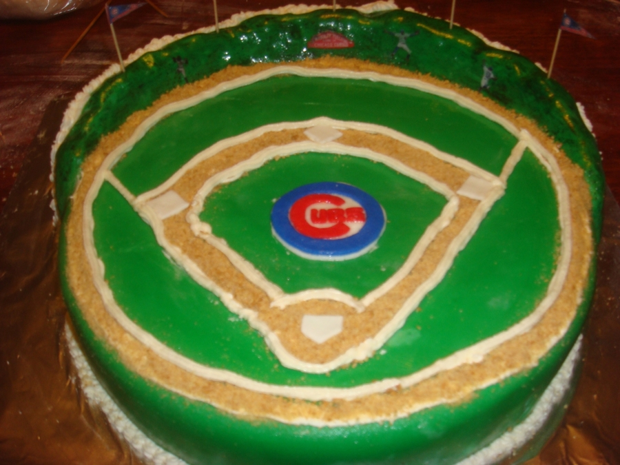 Cubs/chocolate Cake/buttercream/fondant on Cake Central