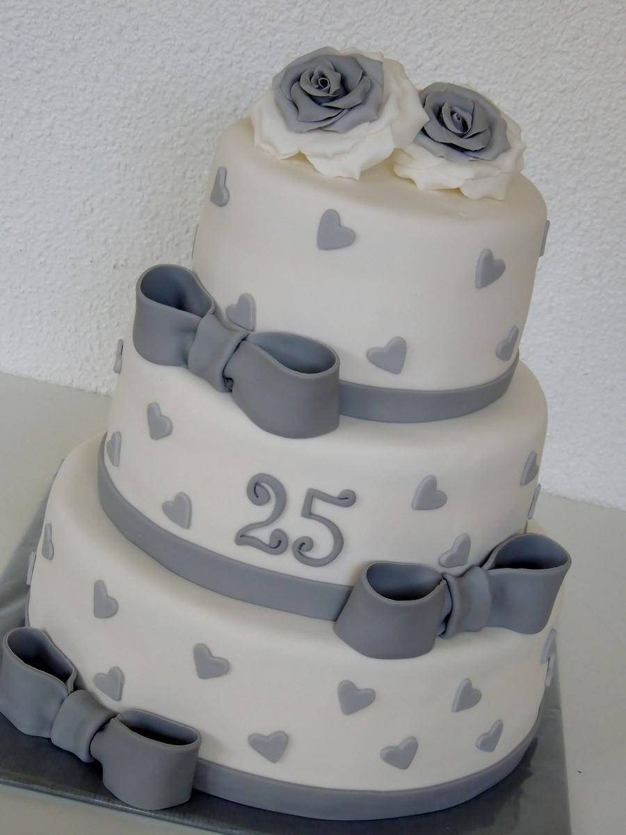 Silver Wedding Anniversary Cake Cakecentral Com