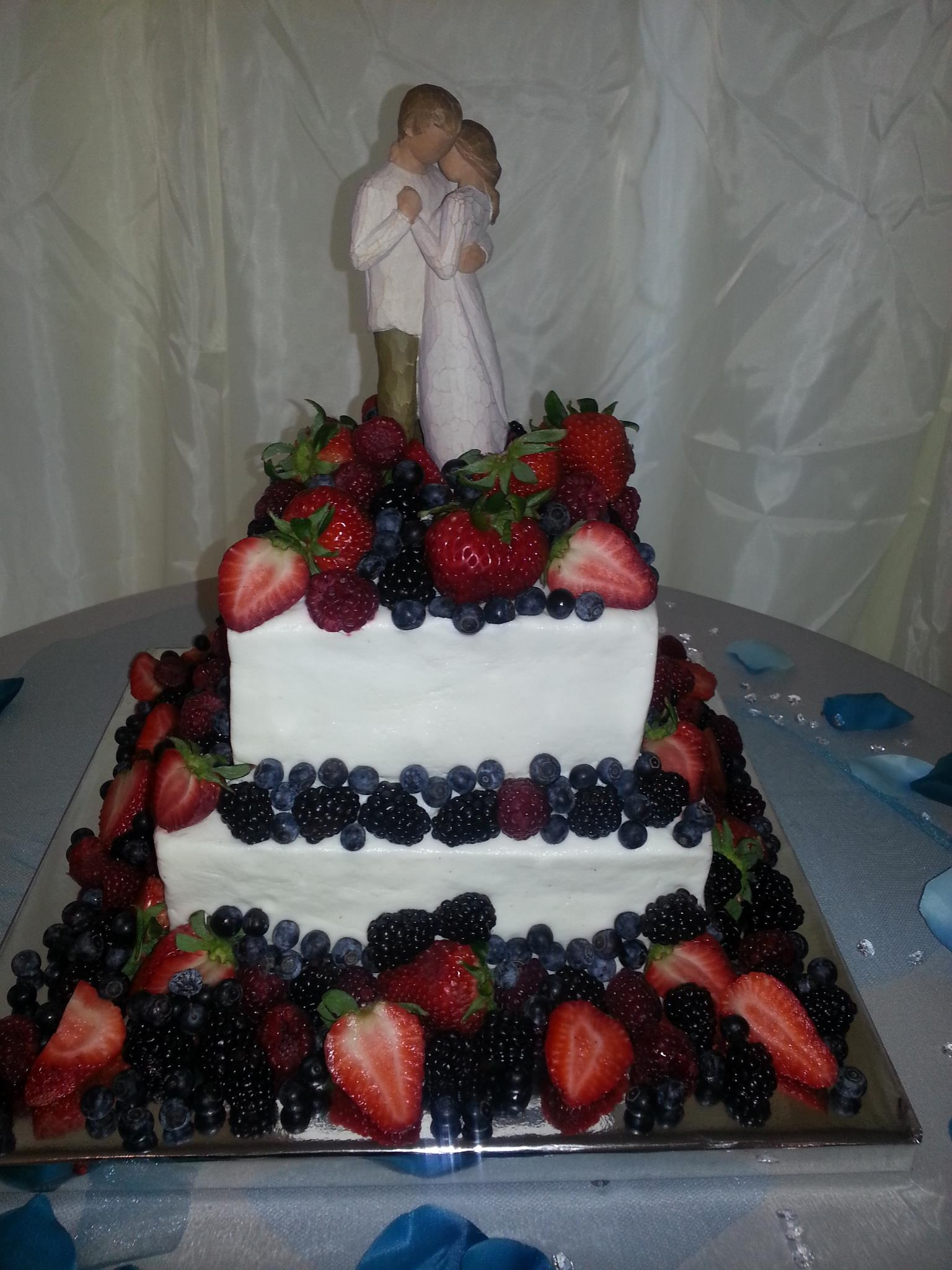 Buttercream With Cascading Fruit Strawberries Raspberries Blueberries And Blackberries on Cake Central