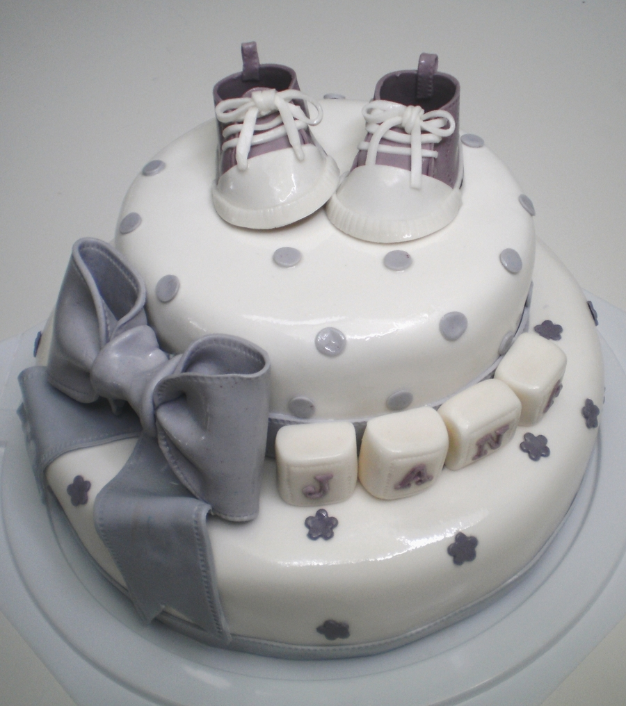 Purple Baby Converse Shoes Cake on Cake Central