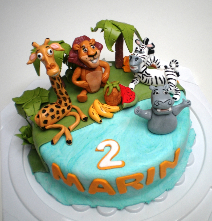 Madagascar Birthday Cake on Cake Central