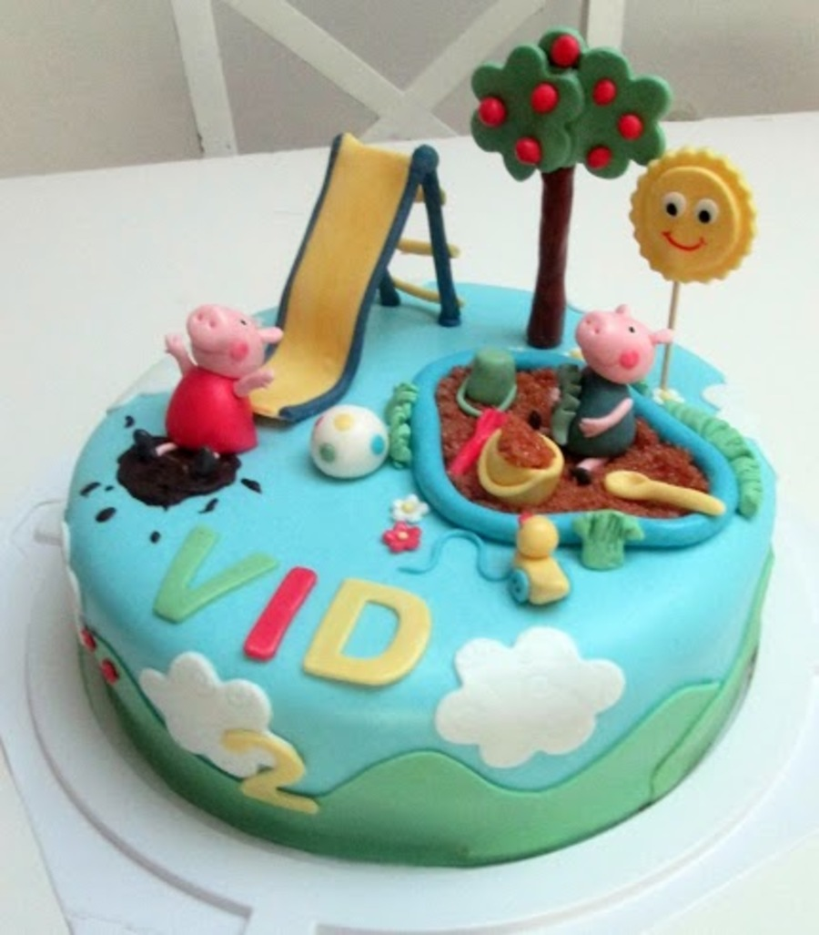Peppa And George In The Playground on Cake Central