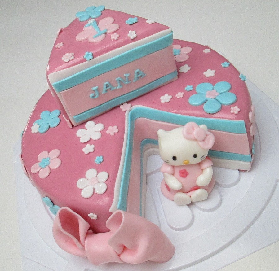 Superb Hello Kitty First Birthday Cake Cakecentral Com Funny Birthday Cards Online Inifodamsfinfo