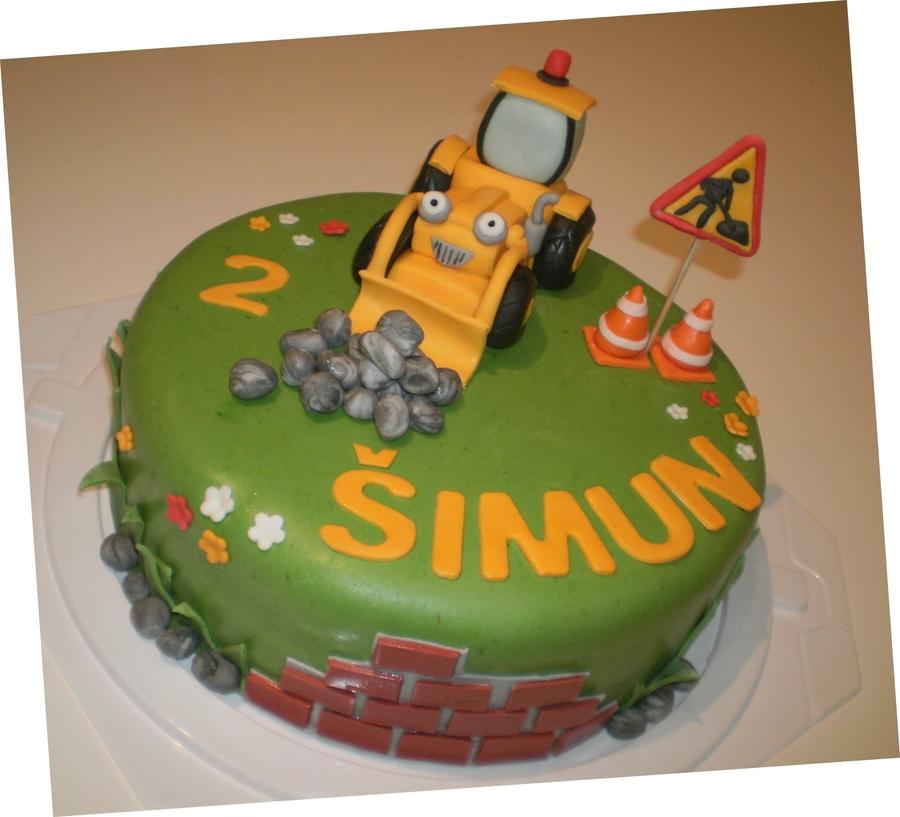 Bob The Builder Digger Cake