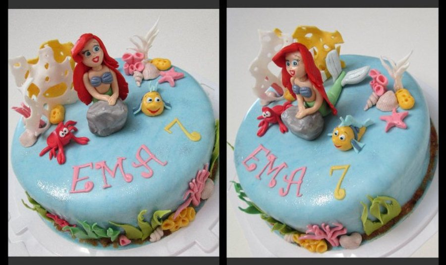 Ariel And Friends Birthday Cake on Cake Central