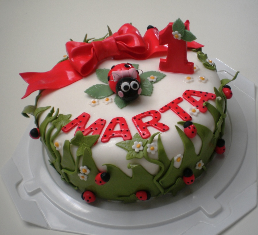 First Birthday Ladybugs Cake on Cake Central