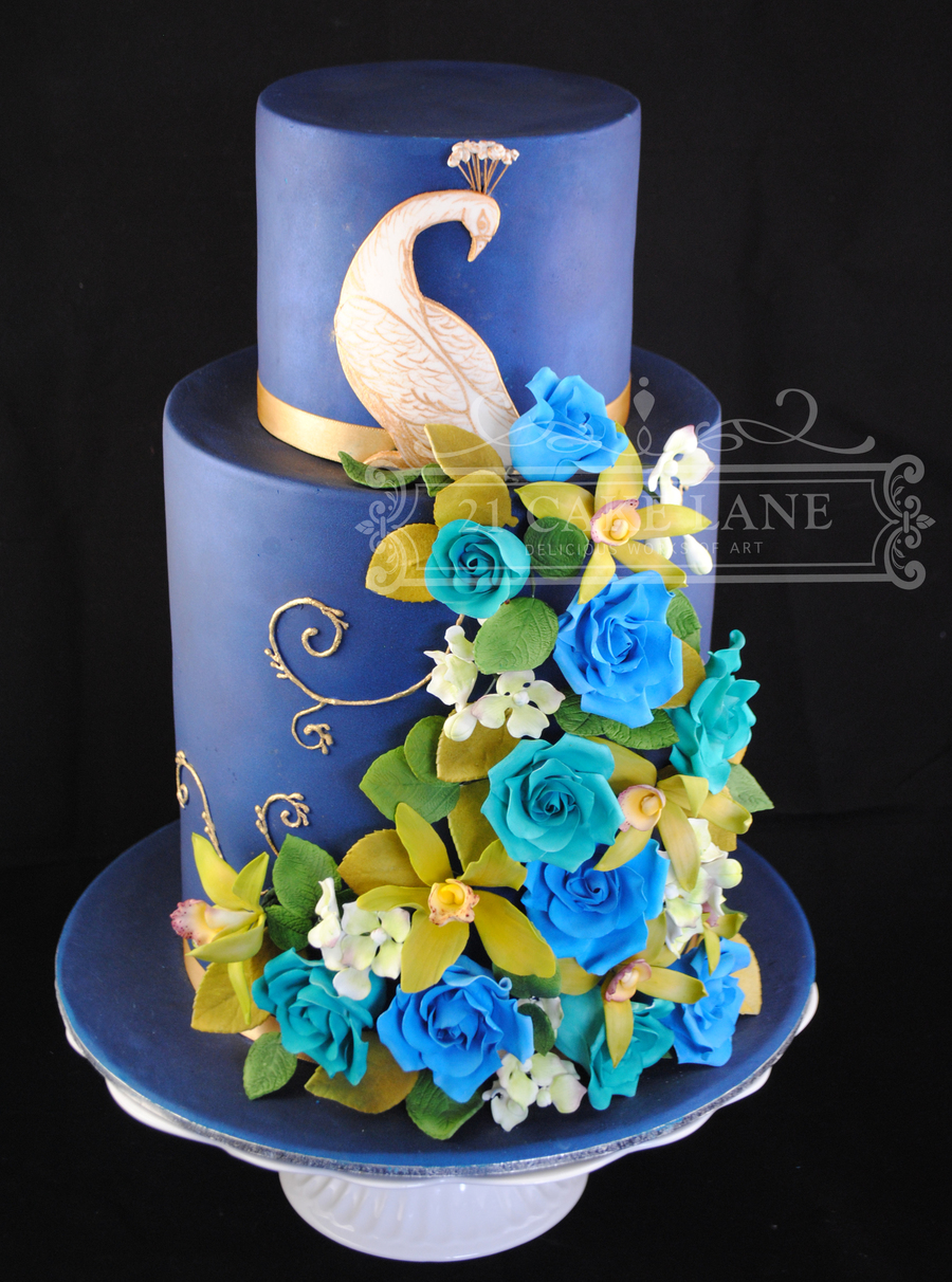 Made During A Planet Cake Course Triple Barrel Base Tier 15 Barrel Top Tier Handmade Roses Orchids Amp Hydrangea on Cake Central