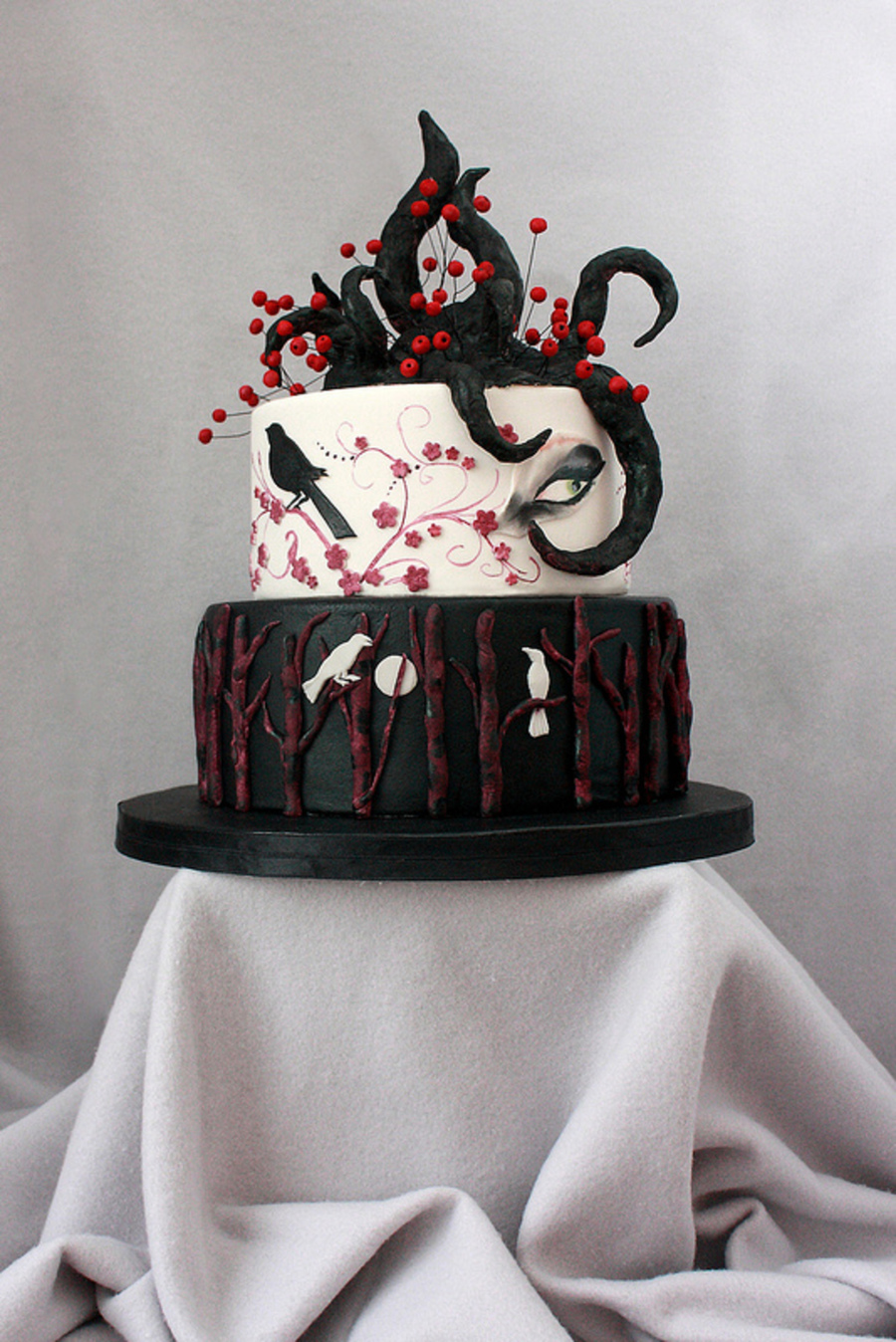 Gothic Wedding Cake,...in The October 2012, Volume 3 Issue 9 Midnight Magic Section Of Cake Central Magazine! on Cake Central