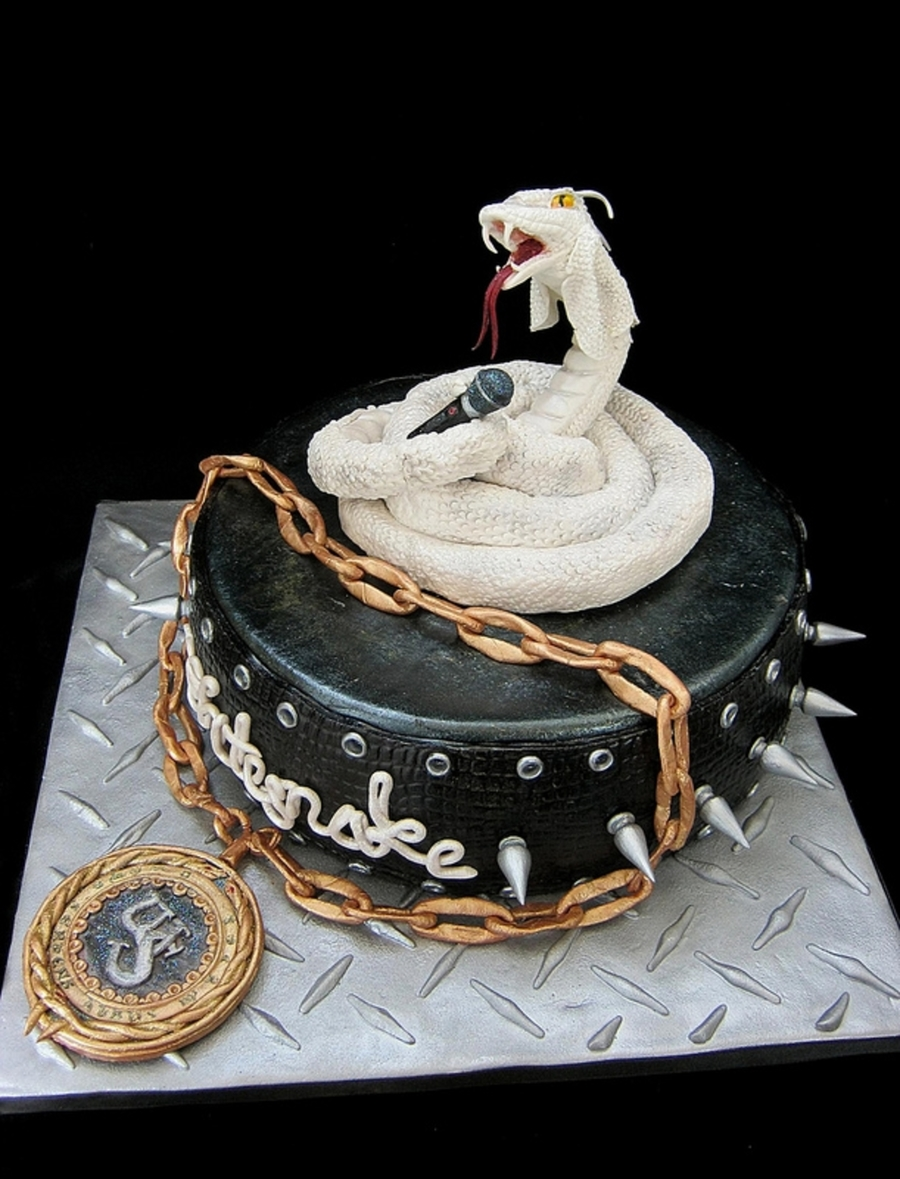 Whitesnake Cake on Cake Central