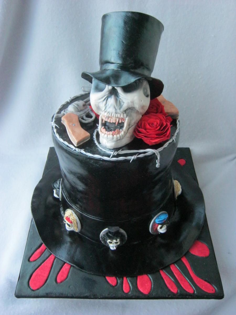 Happy Birthday Cake With Guns