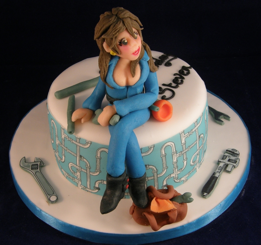 Plumber's Mate!!! on Cake Central