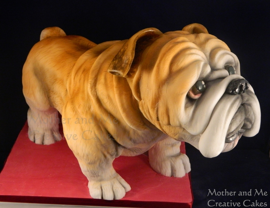 3-D British Bulldog on Cake Central