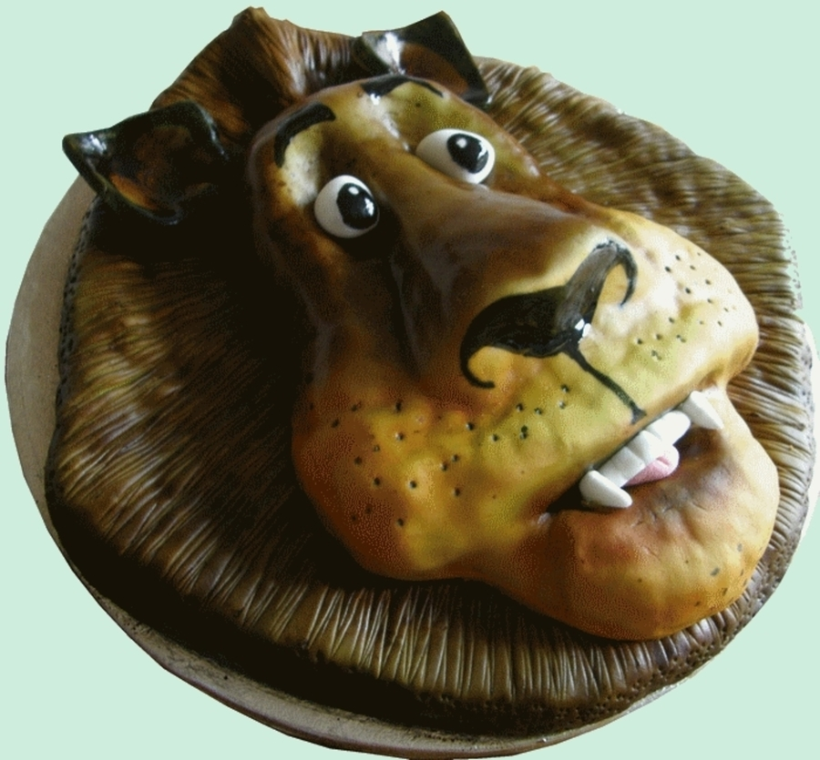 Airbrushed Lion Cake on Cake Central