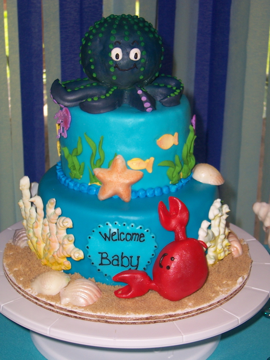 Under The Sea Themed Baby Shower Cake For A Friend This Was A Whole
