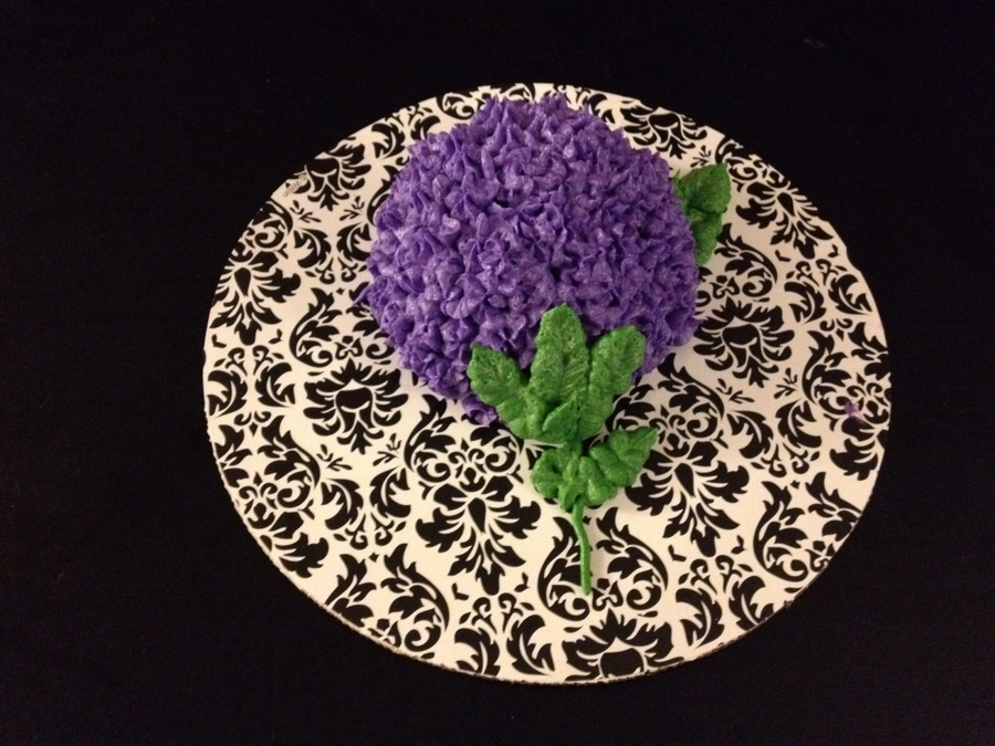 Hydrangea Cupcake  on Cake Central