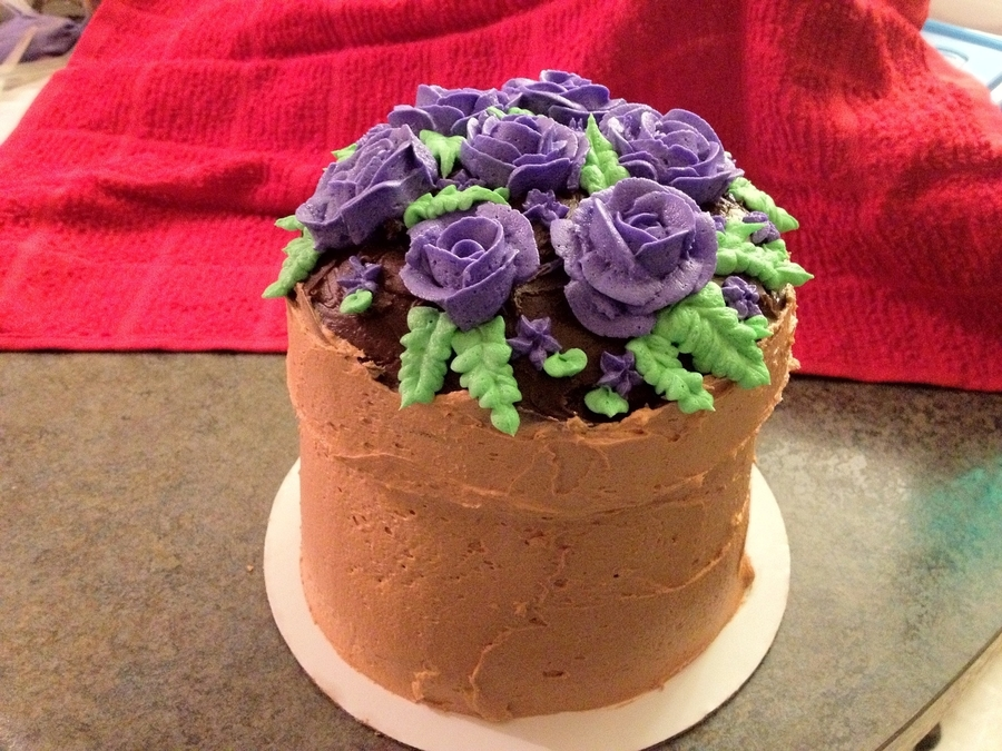 Flower Pot Cake on Cake Central