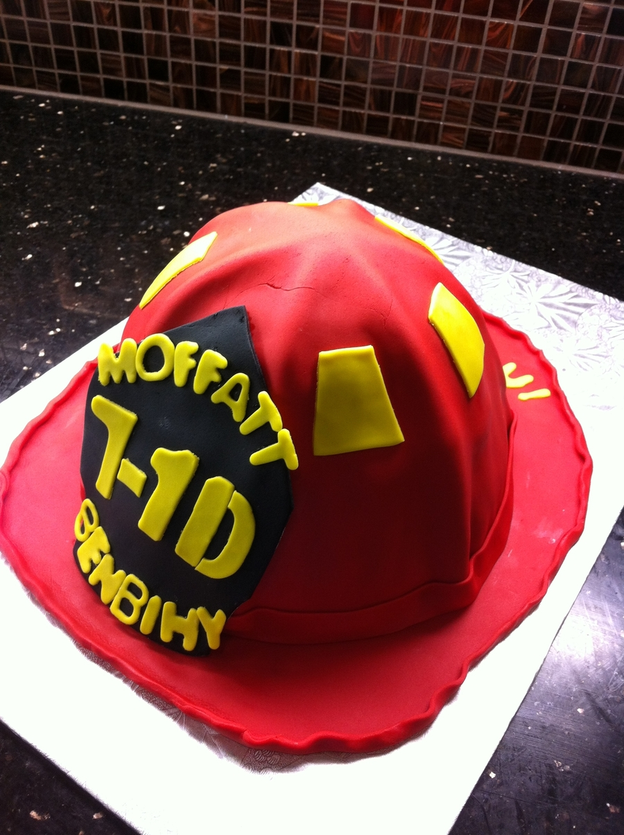 Firefighter Helmet Cake on Cake Central
