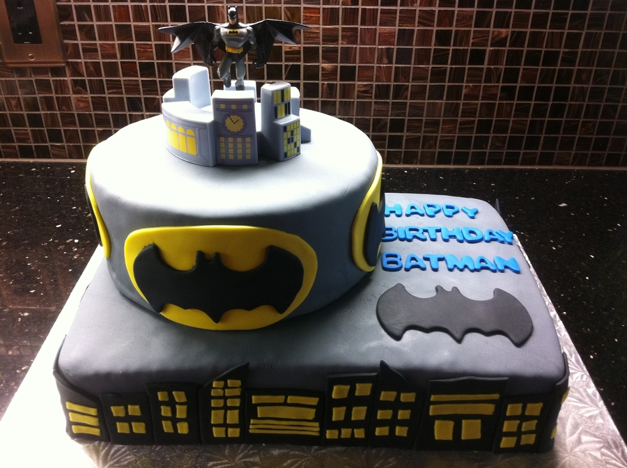 Batman Gotham City Cake on Cake Central