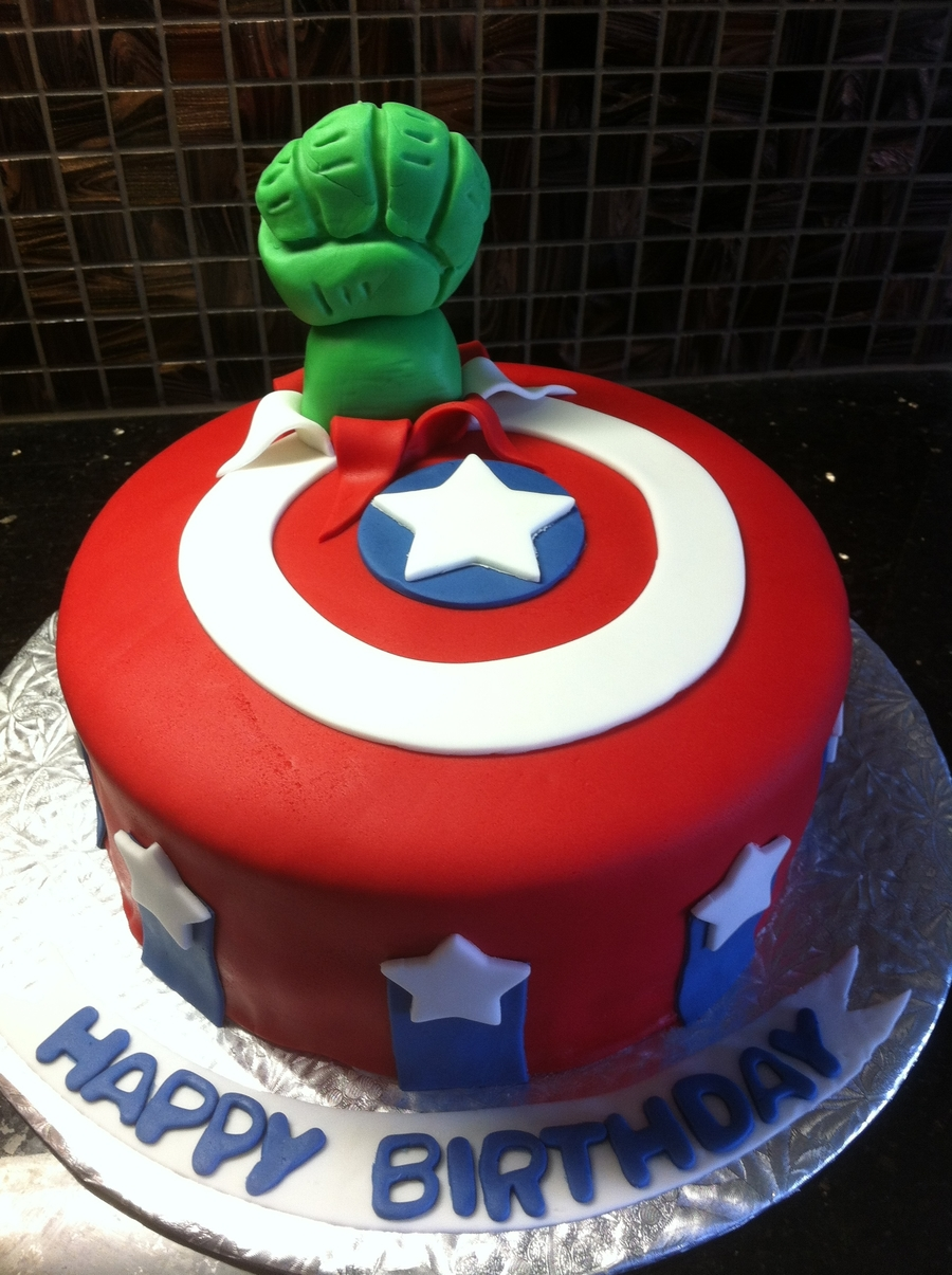 Pictures Of Avengers Birthday Cakes