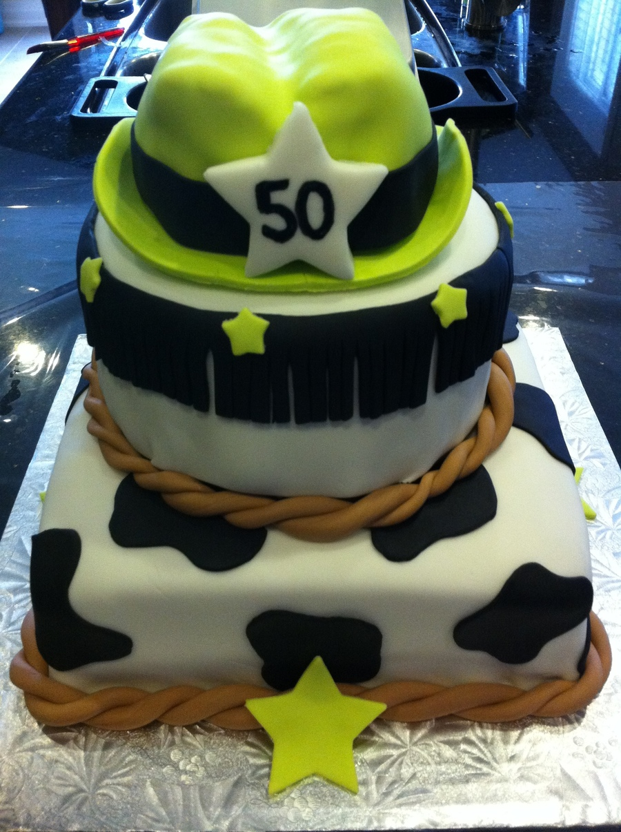50Th Birthday Cowgirl Theme on Cake Central