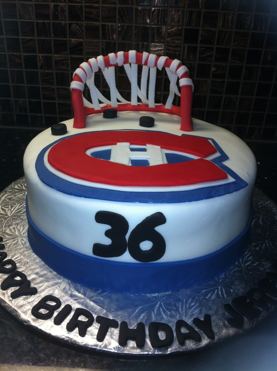 Montreal Canadiens Hockey Cake - CakeCentral.com