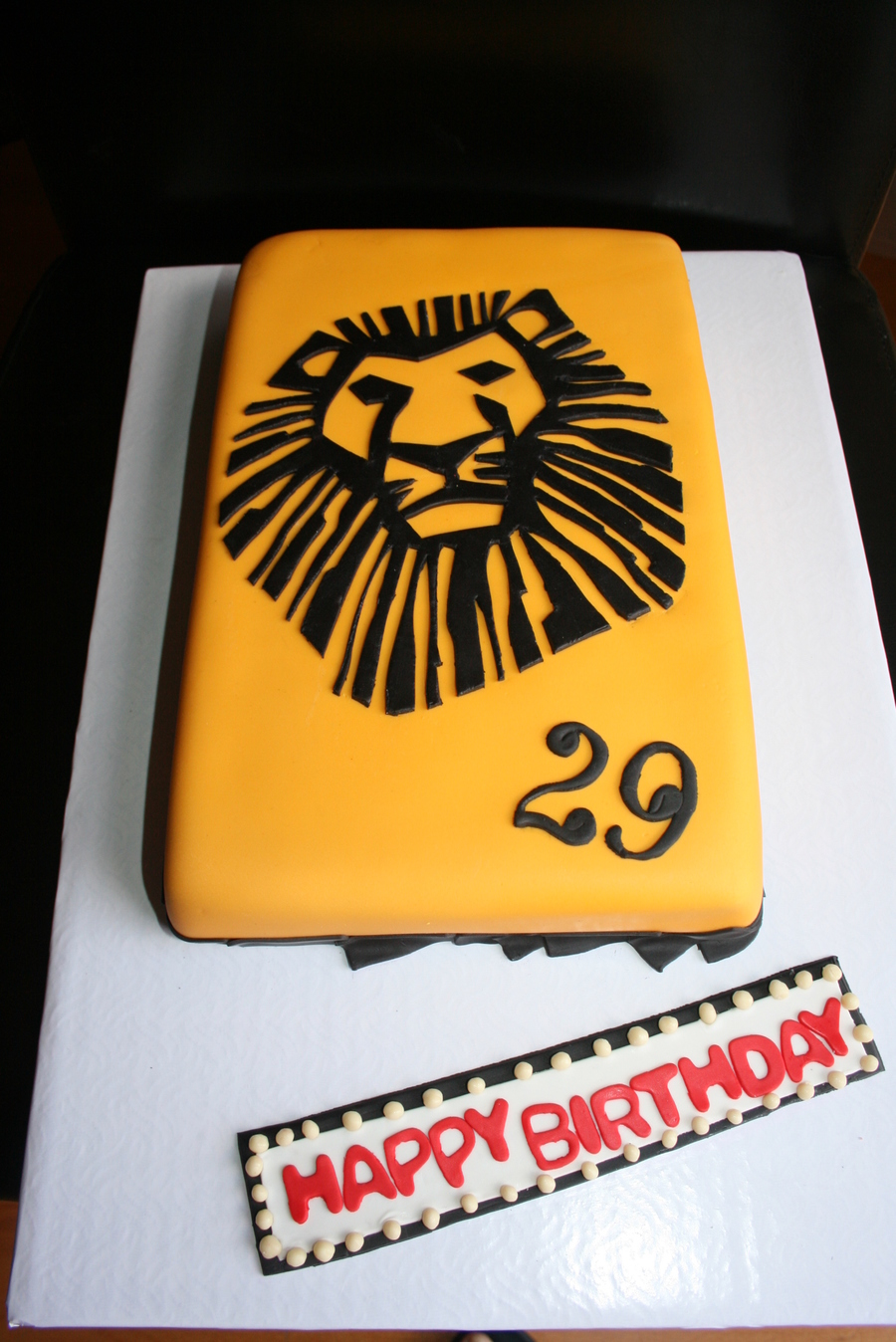 This Lion King Cake Based On The Broadway Playbill Was Entirely Hand Cut Was Super Happy With The Turnout But It Took Way More Time Than on Cake Central