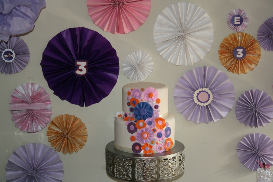 Orange And Purple Pinwheels on Cake Central