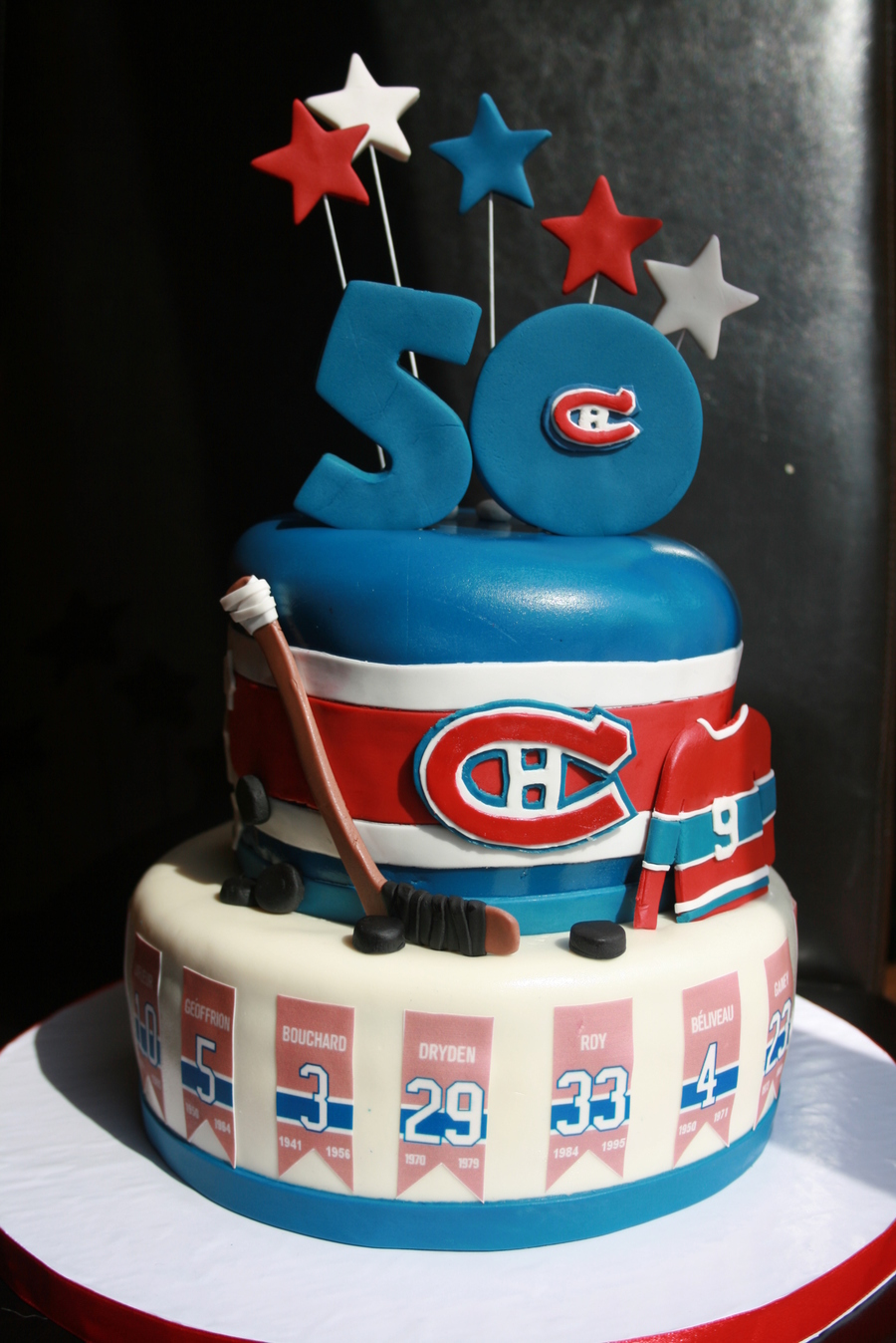Go Habs Go Such A Fun Cake To Make For A Habs Montreal Canadiens Hockey Fan Turning 50 on Cake Central
