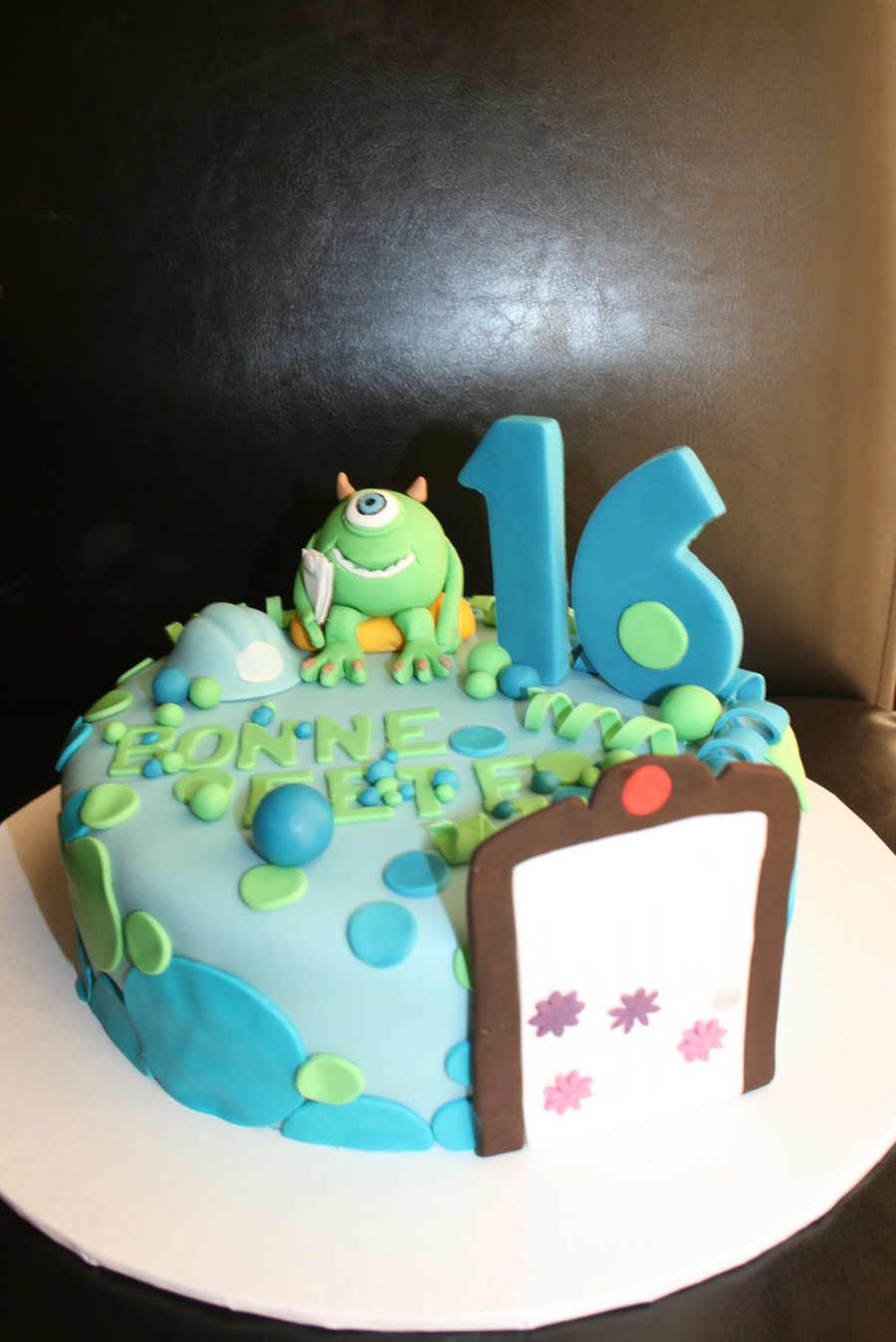 Monsters Inc Fun Cake For A Sweet 16 Party Everything Is Edible Sugar on Cake Central