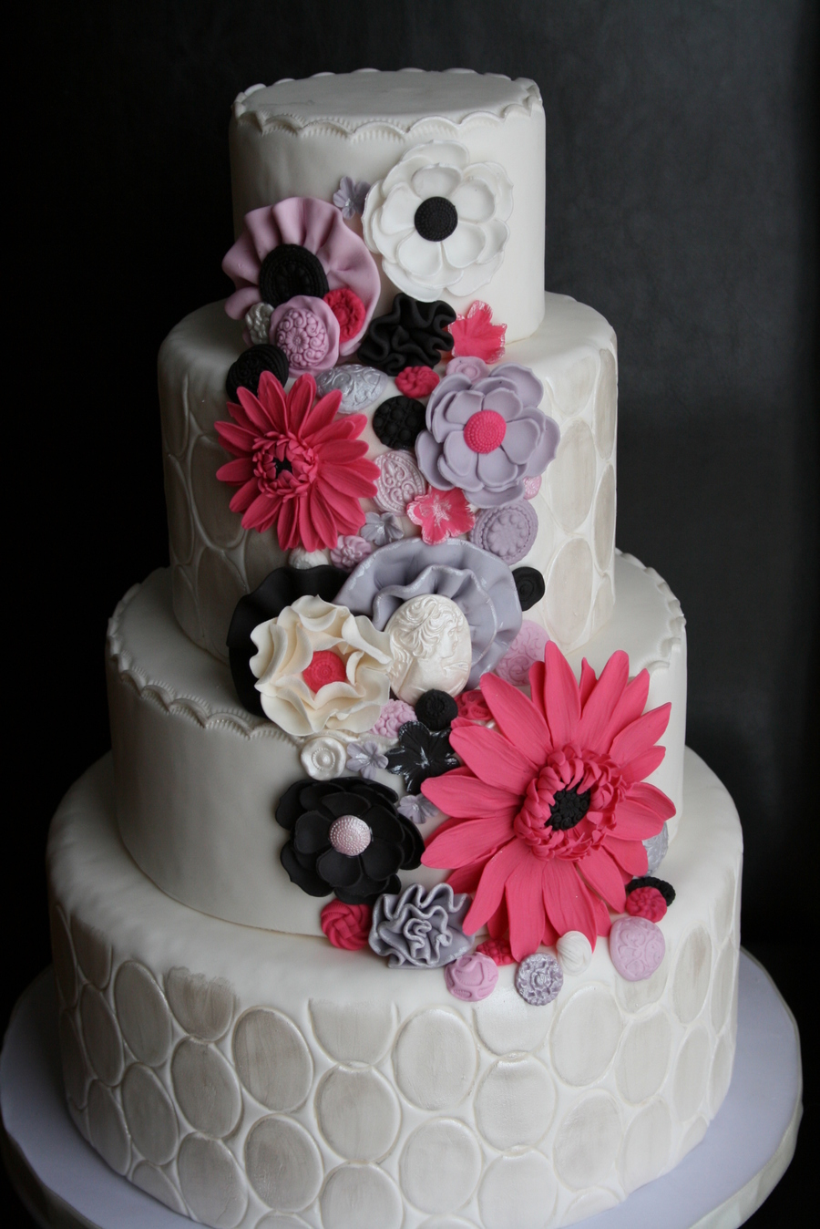 Grey Pink Black And White Elegant Chic Girly Cake on Cake Central